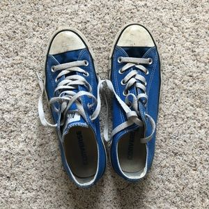 Converse Blue All Star Chucks. Size W 7